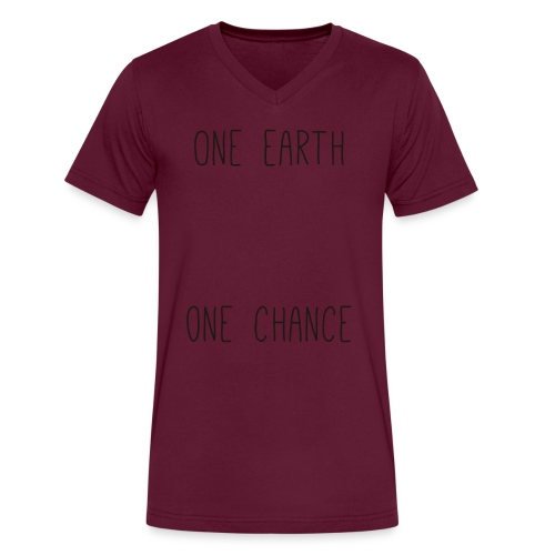 one earth one chance - Men's V-Neck T-Shirt by Canvas