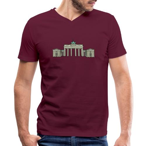 Brandenburg Gate Berlin - Men's V-Neck T-Shirt by Canvas