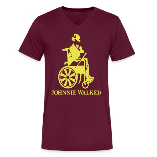 Johnnie Walked, Wheelchair fun, whiskey and roller - Men's V-Neck T-Shirt by Canvas