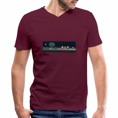 Twitter Header 01 - Men's V-Neck T-Shirt by Canvas