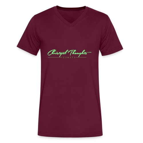 Christyal Thoughts C3N3T31 Lime png - Men's V-Neck T-Shirt by Canvas