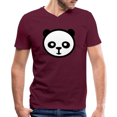 Panda bear, Big panda, Giant panda, Bamboo bear - Men's V-Neck T-Shirt by Canvas