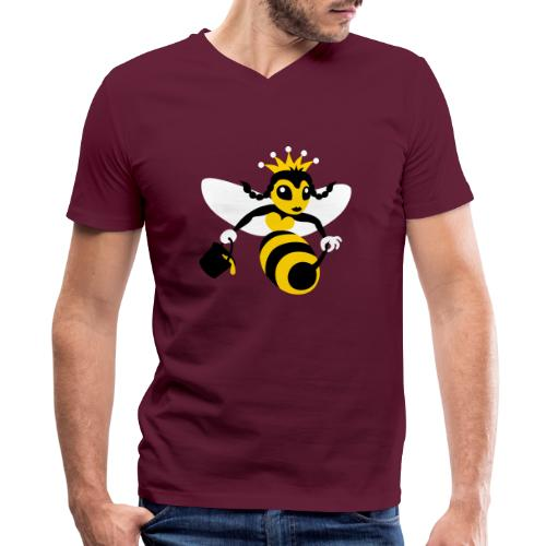 Queen Bee - Men's V-Neck T-Shirt by Canvas