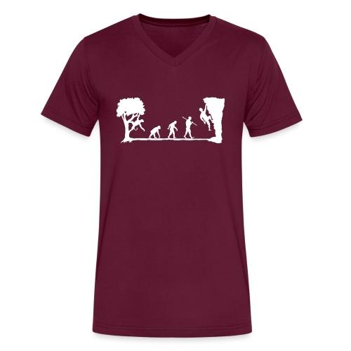 Apes Climb - Men's V-Neck T-Shirt by Canvas