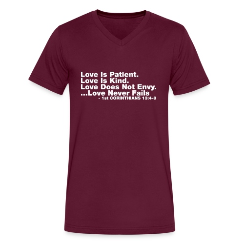 Love Bible Verse - Men's V-Neck T-Shirt by Canvas