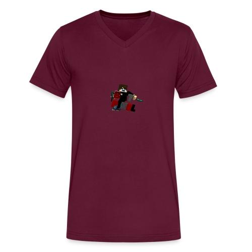 Batpixel Merch - Men's V-Neck T-Shirt by Canvas