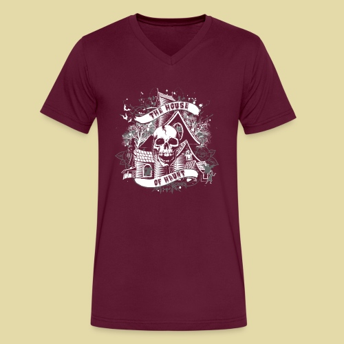 hoh_tshirt_skullhouse - Men's V-Neck T-Shirt by Canvas