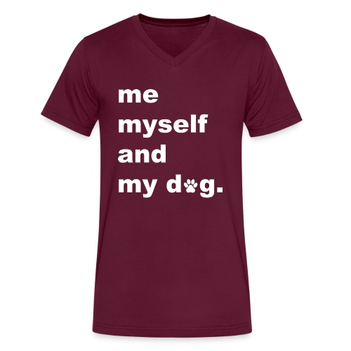 Me Myself And My Dog - Men's V-Neck T-Shirt by Canvas