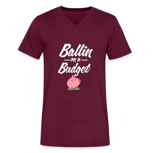ballin white - Men's V-Neck T-Shirt by Canvas