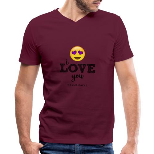 I LOVE you - Men's V-Neck T-Shirt by Canvas