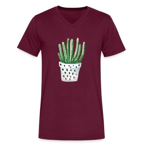 Cactus - Men's V-Neck T-Shirt by Canvas