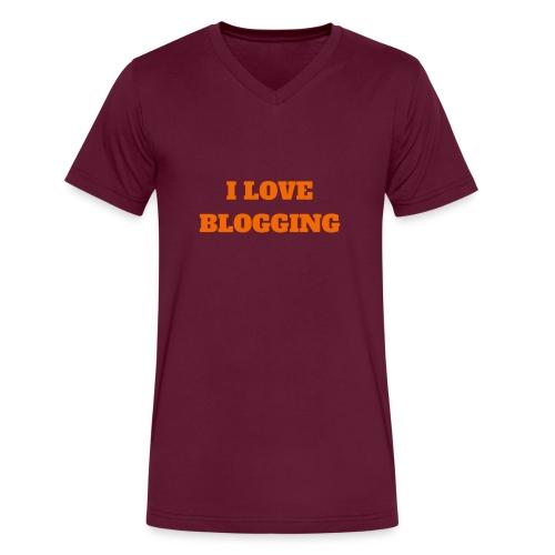 iloveblogging - Men's V-Neck T-Shirt by Canvas