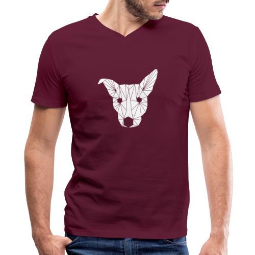 ruckusgeo white - Men's V-Neck T-Shirt by Canvas