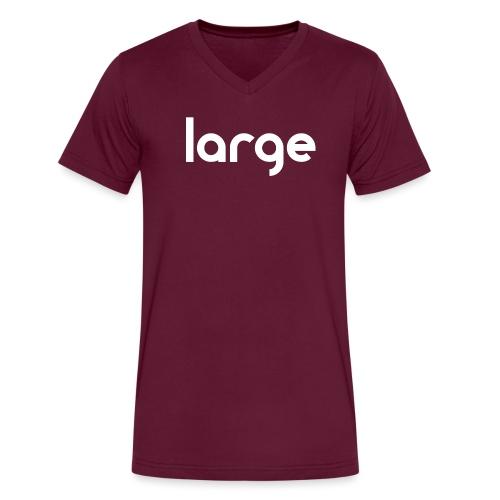 getLarge2011blackWHITE gif - Men's V-Neck T-Shirt by Canvas