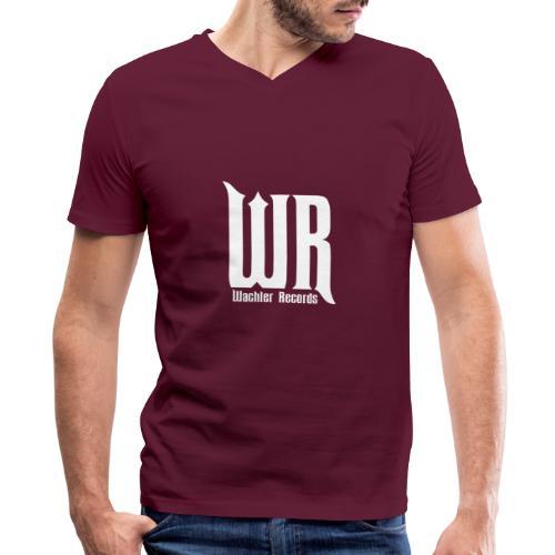 Wachler Records Light Logo - Men's V-Neck T-Shirt by Canvas