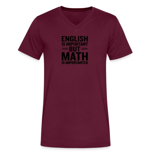 English Is Important But Math Is Importanter merch - Men's V-Neck T-Shirt by Canvas