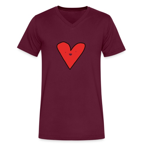 Heart - Men's V-Neck T-Shirt by Canvas