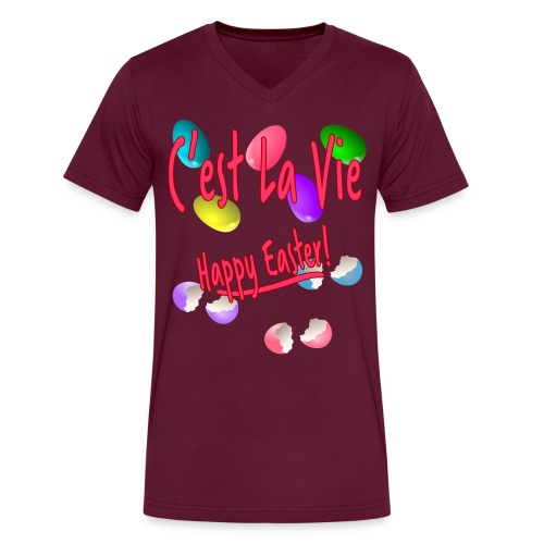 C'est La Vie, Easter Broken Eggs, Cest la vie - Men's V-Neck T-Shirt by Canvas