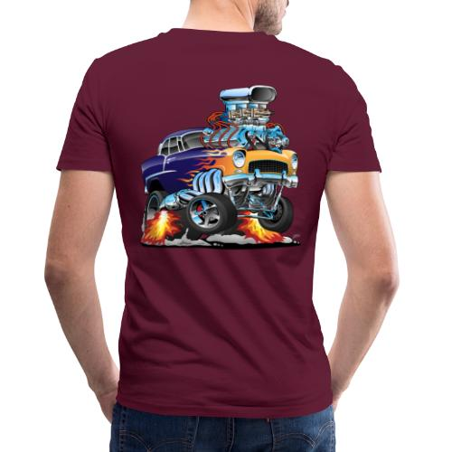 Classic Fifties Hot Rod Muscle Car Cartoon - Men's V-Neck T-Shirt by Canvas