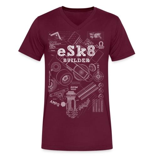 ESK8-BUILDER-LONG-T-SHIRT - Men's V-Neck T-Shirt by Canvas