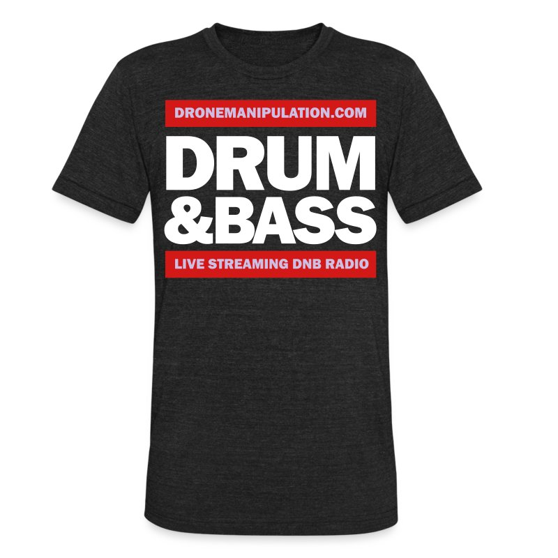 Drum and Bass - Unisex Tri-Blend T-Shirt by American Apparel