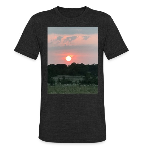 Nature Sunset - Unisex Tri-Blend T-Shirt