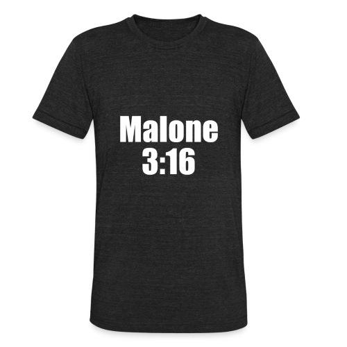 Post Malone parody logo - Unisex Tri-Blend T-Shirt