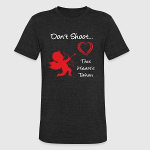 Don't Shoot, This Heart's Taken - Unisex Tri-Blend T-Shirt by American Apparel