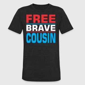 Free Brave Cousin - Unisex Tri-Blend T-Shirt by American Apparel