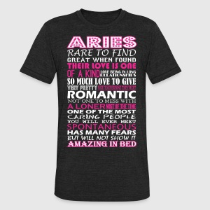Aries Rare To Find Romantic Amazing To Bed - Unisex Tri-Blend T-Shirt by American Apparel