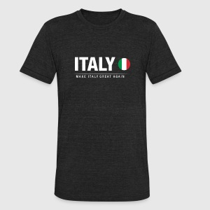 Make Italy Great Again - Unisex Tri-Blend T-Shirt by American Apparel