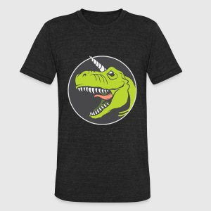 T rex Angry - Unisex Tri-Blend T-Shirt by American Apparel