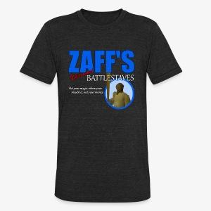 Zaff's Discount Battlestaves Tee - Unisex Tri-Blend T-Shirt