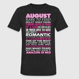 August Rare To Find Romantic Amazing To Bed - Unisex Tri-Blend T-Shirt by American Apparel