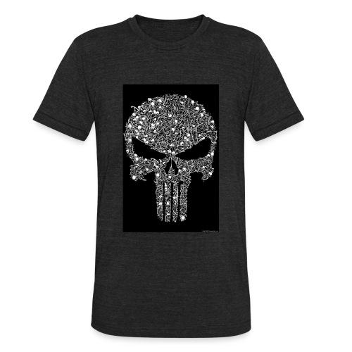 Skull wire theme - Unisex Tri-Blend T-Shirt