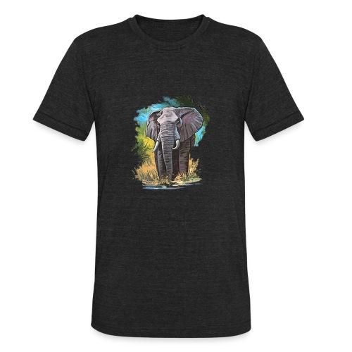 elephant true colors - Unisex Tri-Blend T-Shirt