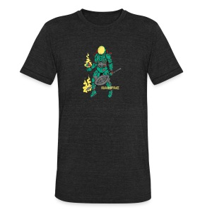 Afronaut - Unisex Tri-Blend T-Shirt by American Apparel