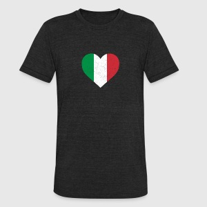 Italy Flag Shirt Heart - Italian Shirt - Unisex Tri-Blend T-Shirt by American Apparel