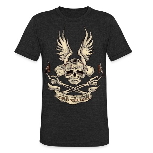 2toncrossedskull - Unisex Tri-Blend T-Shirt