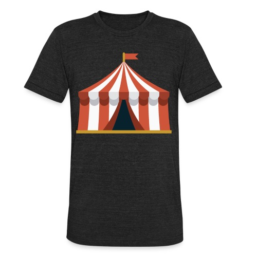 Striped Circus Tent - Unisex Tri-Blend T-Shirt
