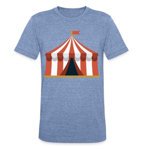 Striped Circus Tent - Unisex Tri-Blend T-Shirt