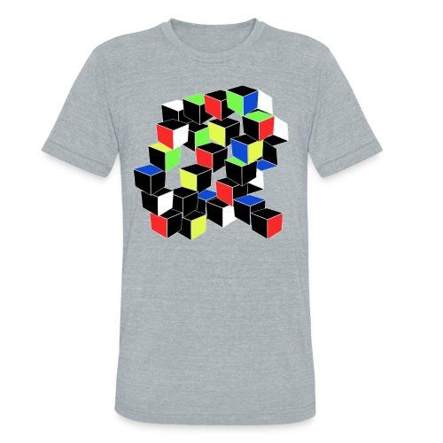 Optical Illusion Shirt - Cubes in 6 colors- Cubist - Unisex Tri-Blend T-Shirt