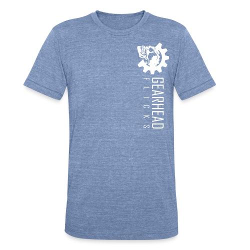 Gearhead Flicks logo white - Unisex Tri-Blend T-Shirt
