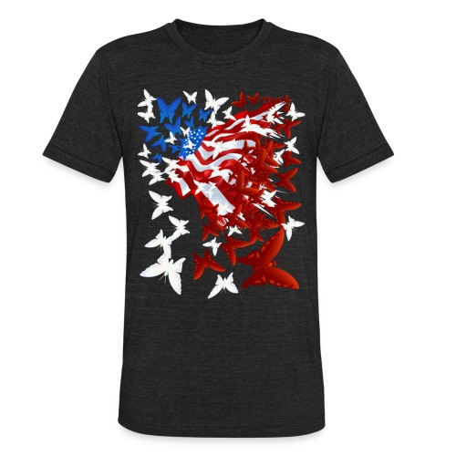 The Butterfly Flag - Unisex Tri-Blend T-Shirt