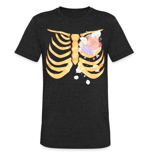 Pastel Goth Gold Rib Cage Shirt - Unisex Tri-Blend T-Shirt