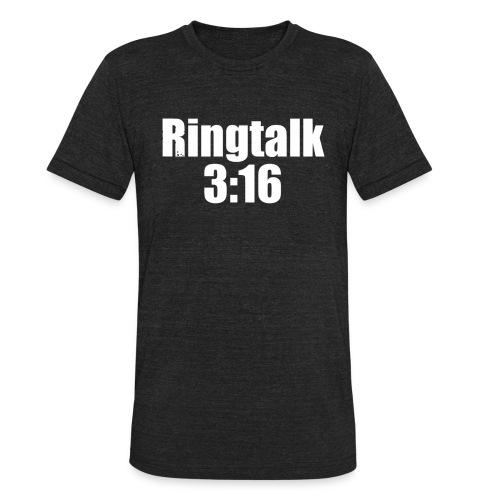 RingTalk 3:16 Logo - Unisex Tri-Blend T-Shirt