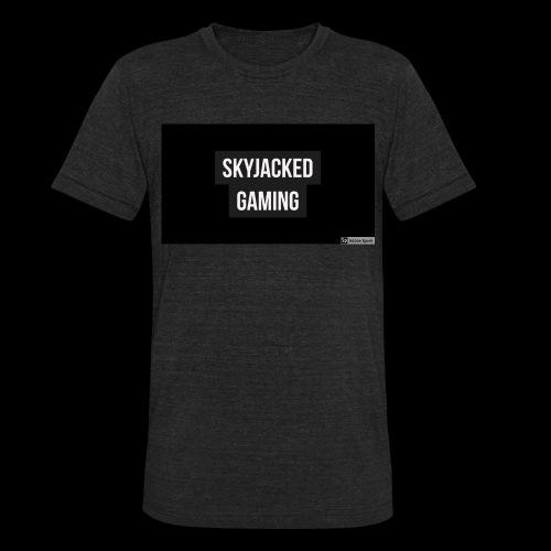 SKYJACKED GAMING BOX LOGO T SHIRT - Unisex Tri-Blend T-Shirt