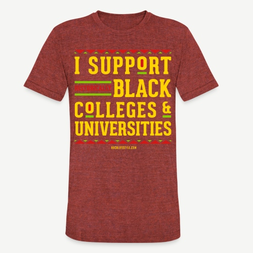 I Support HBCUs - Unisex Tri-Blend T-Shirt