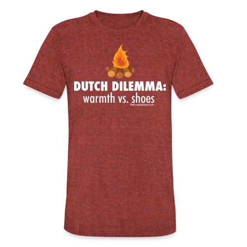 06 Dutch Dilemma white lettering - Unisex Tri-Blend T-Shirt