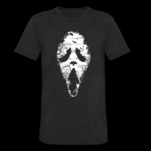 Reaper Screams | Scary Halloween - Unisex Tri-Blend T-Shirt